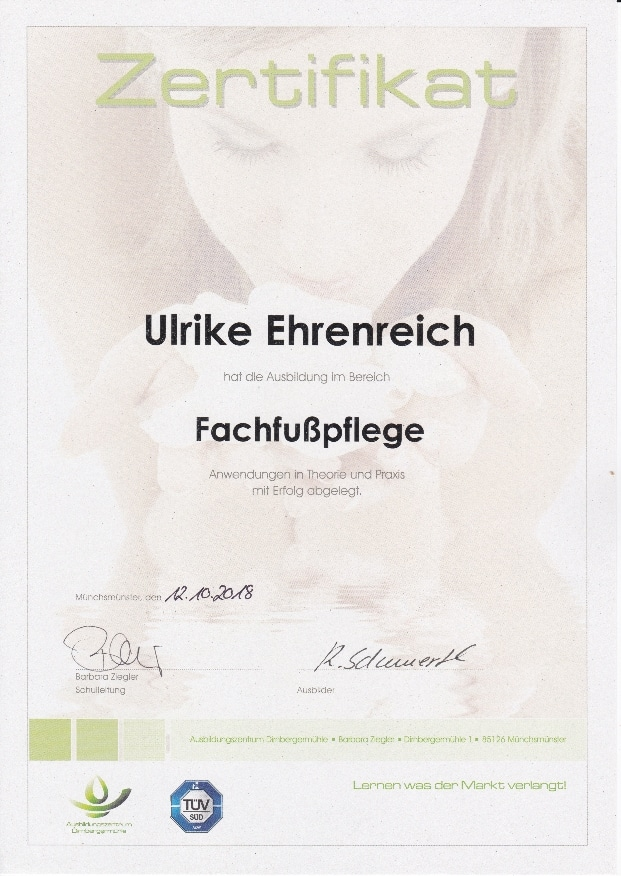 Zertifikat Fachfußpflege